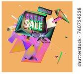 vector abstract 3d great sale... | Shutterstock .eps vector #760734238