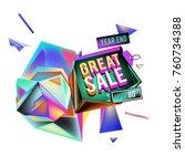 vector abstract 3d great sale... | Shutterstock .eps vector #760734388