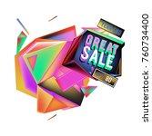 vector abstract 3d great sale... | Shutterstock .eps vector #760734400
