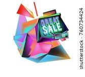 vector abstract 3d great sale... | Shutterstock .eps vector #760734424
