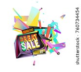vector abstract 3d great sale... | Shutterstock .eps vector #760734454