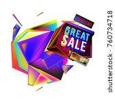 vector abstract 3d great sale... | Shutterstock .eps vector #760734718