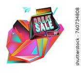 vector abstract 3d great sale... | Shutterstock .eps vector #760734808