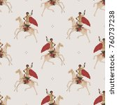 seamless abstract pattern with... | Shutterstock .eps vector #760737238