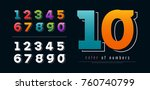 colorful of number modern... | Shutterstock .eps vector #760740799