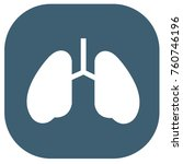 lung icon design vector | Shutterstock .eps vector #760746196
