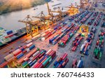 logistics and transportation of ... | Shutterstock . vector #760746433