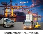 logistics and transportation of ... | Shutterstock . vector #760746436