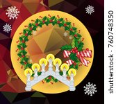 holiday background with...   Shutterstock .eps vector #760748350