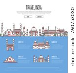country india travel vacation... | Shutterstock .eps vector #760753030