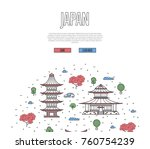 usa travel tour poster with... | Shutterstock .eps vector #760754239