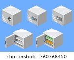 isometric 3d vector... | Shutterstock .eps vector #760768450
