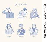 various symptoms of people... | Shutterstock .eps vector #760771363