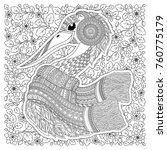 stork   fantastic flowers ... | Shutterstock . vector #760775179