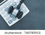 wooden judge gavel on... | Shutterstock . vector #760785913