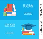online education vector banners ... | Shutterstock .eps vector #760787974