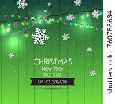 christmas sale design template. ... | Shutterstock .eps vector #760788634