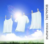 laundry detergent. washing... | Shutterstock .eps vector #760790938