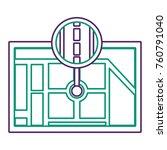 gps navigation map destination... | Shutterstock .eps vector #760791040