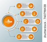 vector abstract 3d paper...   Shutterstock .eps vector #760798438