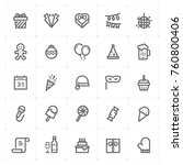 mini icon set   party and... | Shutterstock .eps vector #760800406
