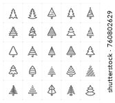 mini icon set   christmas tree... | Shutterstock .eps vector #760802629