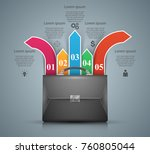 briefcase  office   business... | Shutterstock .eps vector #760805044