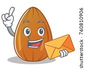 with envelope almond nut... | Shutterstock .eps vector #760810906