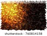 dark orange vector abstract... | Shutterstock .eps vector #760814158