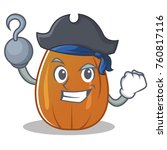pirate almond nut character... | Shutterstock .eps vector #760817116