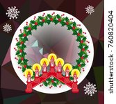 holiday background with... | Shutterstock .eps vector #760820404