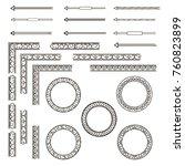 a set of ornaments  arrows ... | Shutterstock . vector #760823899