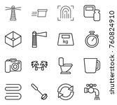 thin line icon set   lighthouse ... | Shutterstock .eps vector #760824910