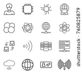 thin line icon set   woman ... | Shutterstock .eps vector #760825879