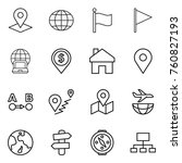 thin line icon set   pointer ... | Shutterstock .eps vector #760827193