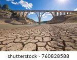 landscape of dry earth ground... | Shutterstock . vector #760828588
