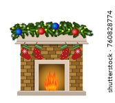 christmas fireplace xmas and