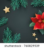 christmas banner with red... | Shutterstock .eps vector #760829539