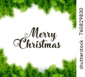 merry christmas. happy new year.... | Shutterstock .eps vector #760829830