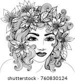 Vector Beautiful Girl With...