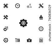 set of 13 editable repair icons....