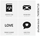 set of 4 editable love icons....