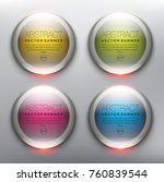 vector glass web banners set of ...