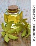 ylang ylang flower and ylang... | Shutterstock . vector #760840804