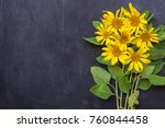 yellow sunflower flowers on... | Shutterstock . vector #760844458