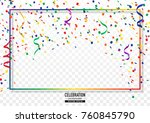 coloful confetti background... | Shutterstock .eps vector #760845790
