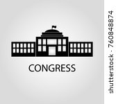 congress building isolated flat ... | Shutterstock .eps vector #760848874
