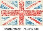 grunge flag of great britain... | Shutterstock .eps vector #760849438