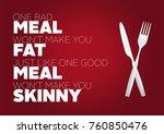 fitness motivation quote | Shutterstock . vector #760850476