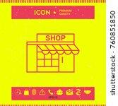 store icon symbol | Shutterstock .eps vector #760851850